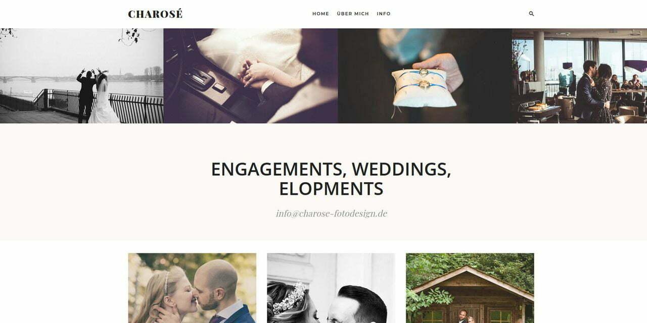 Screenshot Charosé Fotodesign