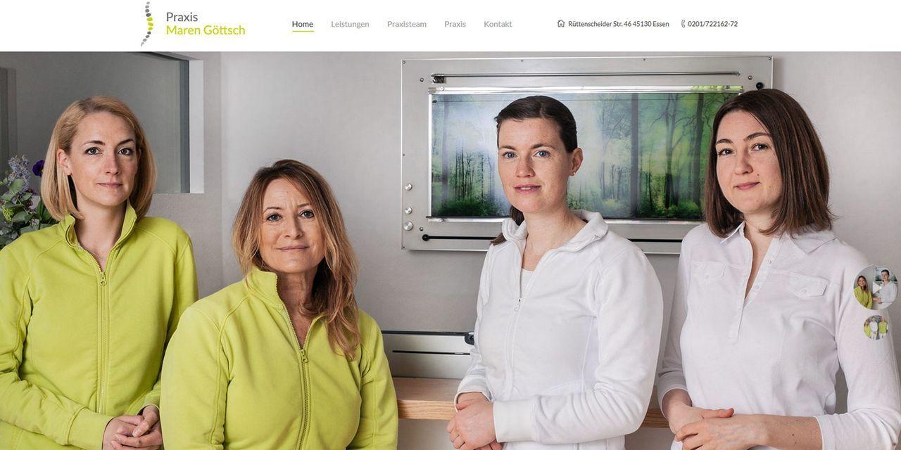 Screenshot Praxis Maren Göttsch