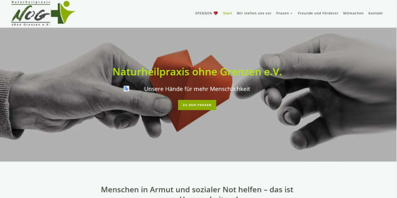 Screenshot Naturheilpraxis ohne Grenzen