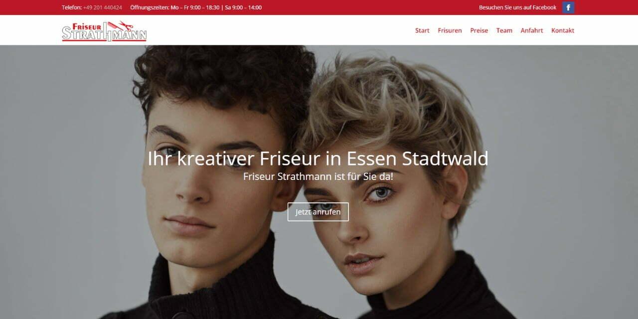 Screenshot Friseur Strathmann