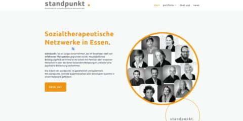 Webdesign für Standpunkt, Essen